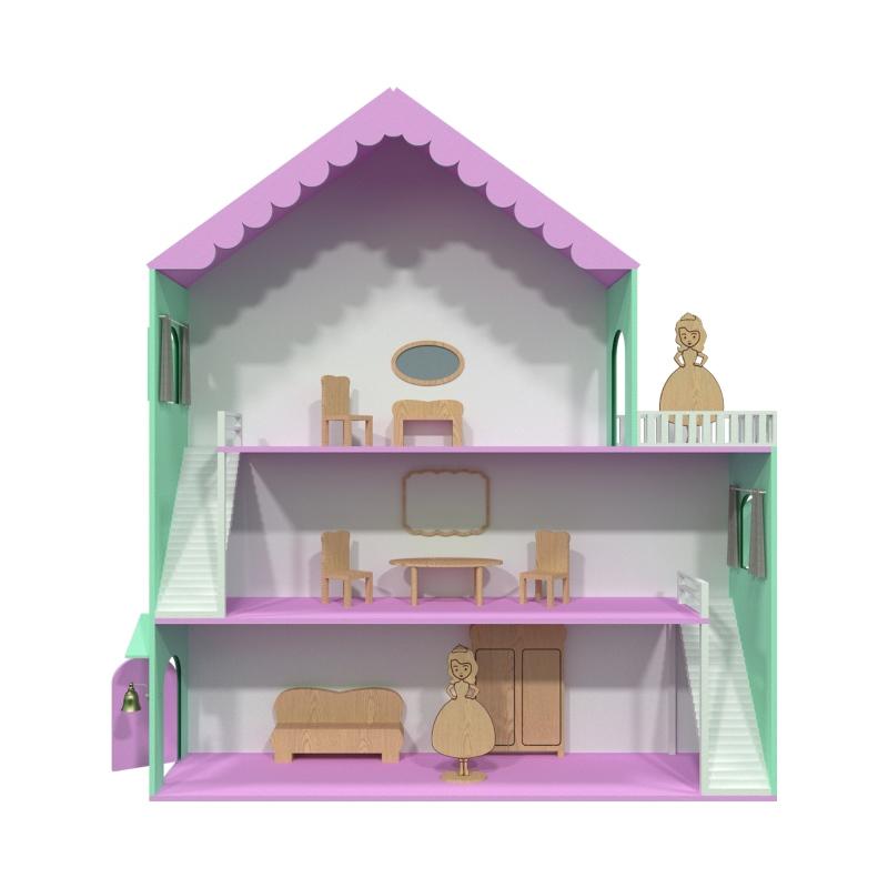 Кукольный домик с мебелью SUNNYWOODS Варя - купить по лучшей цене ... | 800x800