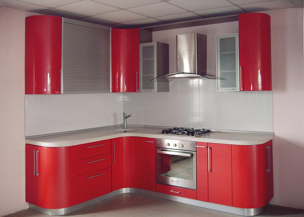 встроенные кухни фотокаталог с левым углом для создания панорамных